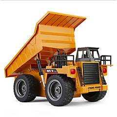 RCカー HUINA 1540 6チャンネル 2.4G ブルドーザー 鉱山車 ダンプトラック 1:18 KM / H リモートコントロール 充電式 エレクトリック