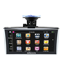 voordelige Auto DVD-spelers-Kkmoon 7 hd touch screen draagbare gps navigator 128mb ram 4gb rom fm mp3 video speel auto entertainment systeem met back support gratis