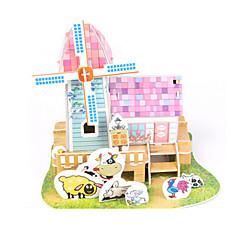 tanie Gry i puzzle-Zabawki 3D Puzzle Papierowy model Model Bina Kitleri Dom Architektura DIY Papier wysokiej jakości Klasyczny Dla dziewczynek Dla chłopców