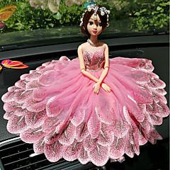 billige Vedhæng og andet udsmykning til bilen-DIY automotive ornamenter kreative mode tegneserie barbie dukke blonde bryllup lys pulver prinsesse bil vedhæng&Ornamenter broderi