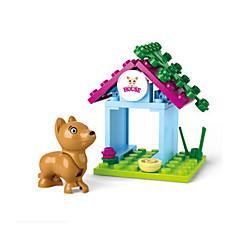 tanie Klocki magnetyczne-Klocki Figurki z klocków Zabawy w odgrywanie ról Psy Zamek Dom Animals Dla dziewczynek Zabawki Prezent