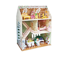 DIY KIT Dolls 3D Puzzles Jigsaw Puzzle Dollhouse Paper Model Toys Famous buildings Architecture 3D Unisex Pieces