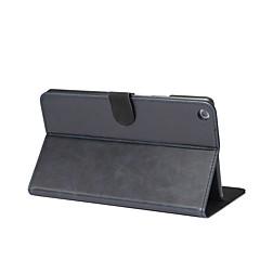Solid crazy ma mønster ekte lærveske med stativ til huawei mediapad m3 lite 8,0 8,4 tommers tablet pc