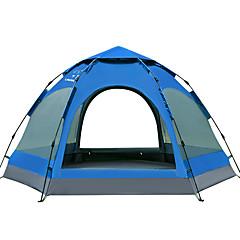 billige Telt og ly-LINGNIU® 5-8 personer Telt Dobbelt camping Tent Ett Rom Automatisk Telt Vanntett Hold Varm Vindtett Regn-sikker til Camping &