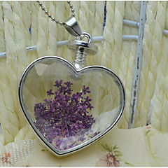 cheap Necklaces-Women's Floral Heart Pendant Necklace - Floral Cute Style Heart Necklace For Wedding Party Birthday Graduation Gift Daily