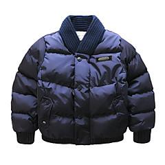 billige Jakker og frakker til drenge-Drenge dun- og bomuldsforet Prikker Farveblok Navyblå Kakifarvet