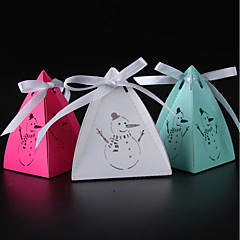 Others Pearl Paper Favor Holder With Ribbons Favor Boxes-50 Wedding Favors