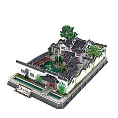 tanie Gry i puzzle-Zabawki 3D Puzzle Znane budynki Architektura 3D Natural Wood Dla obu płci Prezent