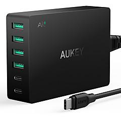 USB-laturi 6 Portit Työpöydän latausasema Quick Charge 3.0 -ohjelmistolla US-pistoke Latausadapteri