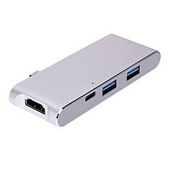 preiswerte -USB 3.1 Typ C Adapter, USB 3.1 Typ C to HDMI 1.4 USB 3.0 USB 3.1 Typ C Adapter Male - Female 4K*2K 10 Gbps