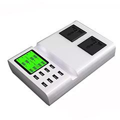 USB-laturi 8 Portit Työpöydän latausasema Smart-tunnistuksella LCD-näyttö Telakka US-pistoke EU-pistoke Latausadapteri