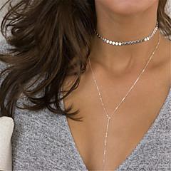 Dámské Obojkové náhrdelníky Y-Náhrdelník Šperky Geometric Shape Měď Slitina Třásně Módní Přizpůsobeno Euramerican Zlatá Stříbrná Šperky