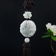 Diy auto pendentes maitreya bravo tropas artesanais requintado borla moda riqueza lucky carro pendente&Ornamentos esmeralda
