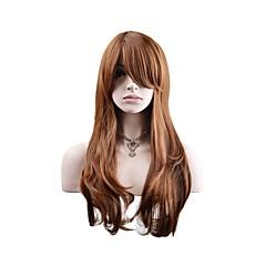 billige Kostymeparykk-Syntetiske parykker / Kostymeparykker Naturlige bølger Syntetisk hår Parykk Dame Lang Lokkløs Beige