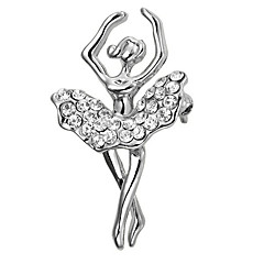 Dámské Dívčí Brože Kubický zirkon Bohemia Style Pozlacené Šperky Pro Svatební Párty Obřad Vánoce