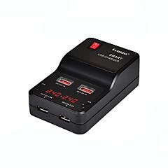 USB-laturi 4 porttia Työpöydän latausasema Switch (es) Smart-tunnistuksella LCD-näyttö Universaali Latausadapteri