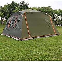 5-8 personer Telt Enkelt camping Tent Ett Rom Brette Telt Vanntett Vindtett Solkrem Solbeskyttelse Revner ikke til Camping & Fjellvandring