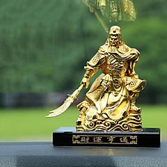 Diy ornamentos automotivos carro de ouro decoração de decoração de interiores guan gong perfume assento rico pendente de carro