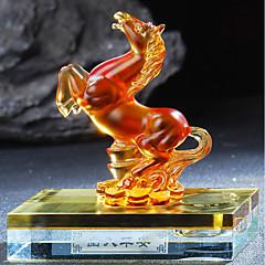 Ornamentos automotivos diy pingente de carro chinês do cavalo chinês doze do estilo chinês&Ornamentos de vidro
