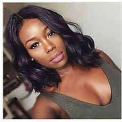 cheap Wigs & Hair Pieces-Human Hair Full Lace Wig Wavy Natural Wave 130% Density 100% Hand Tied African American Wig Natural Hairline Short Medium Long Women's