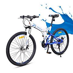 אופני הרים מתקפל אופניים רכיבת אופניים 24 מהיר 700CC/26 אינץ' Yinxing דיסק בלימה כפול מזלג שיכוך קיפול שלדת זנב רך רגיל נגד החלקה