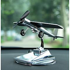 Diy autóipari díszek szoláris repülőgép dísztárgyak autó kreatív repülőgép modell autó medál&Fém díszek