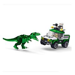 tanie Klocki magnetyczne-Klocki Tyrannosaurus Dinozaur DIY Dla chłopców Zabawki Prezent