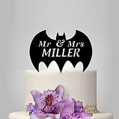 billige Kakedekorasjoner-Kakepynt Bryllup Plast Bryllup med 1 Polyester Veske