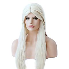 tanie Peruki syntetyczne-Peruki syntetyczne Falisty Z baby hair Gęstość Bez czepka Damskie Blond cosplay peruka Długo Włosy syntetyczne