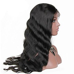 cheap Wigs & Hair Pieces-Human Hair Lace Front Wig Brazilian Hair Body Wave Natural Black Wig 130% Density with Baby Hair Natural Hairline Natural Black Women's Short Medium Length Long Human Hair Lace Wig Luxurious