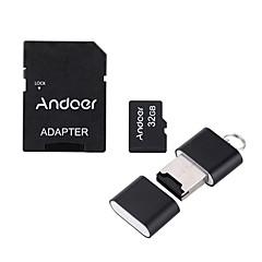 tanie Karty pamięci-Andoer 32GB Micro SD TF karta karta pamięci Class10