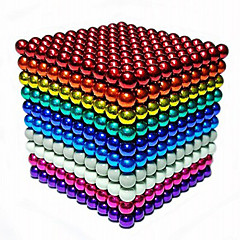 cheap Toys & Games-216/512/1000 pcs 5mm Magnet Toy Magnetic Balls Building Blocks Super Strong Rare-Earth Magnets Neodymium Magnet Stress and Anxiety Relief Office Desk Toys DIY Kid's / Adults' Unisex Boys' Girls' Toy