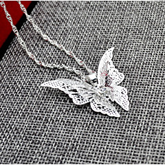 cheap Necklaces-Women's Pendant Necklace - Butterfly, Animal Silver Necklace For Wedding, Birthday
