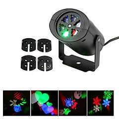 ywxlight® eu nous plug no-waterproof 4 modèles flocon de neige conduit projecteur lumière pour le paysage de jardin