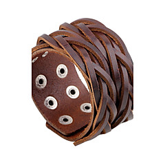 Pánské Kožené náramky Módní Rock Kožené Round Shape Šperky Pro Denní Ležérní