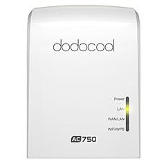 dodocool ac750 כפול הלהקה אלחוטית wi-fi ap / שידור / נתב בו זמנית 2.4ghz 300mbps ו 5ghz 433mbps האיחוד האירופי