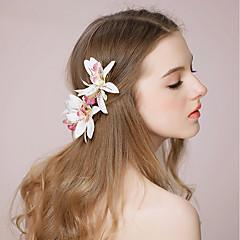 tecido flores cabelo grampo cabeça elegante estilo feminino clássico