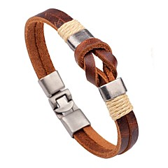 cheap -Men's Women's Leather Bracelet Handmade Fashion Leather Round Jewelry For Casual Going out