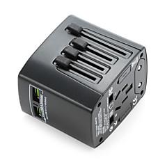 baratos -Adaptador de viagem universal waza® 4.8a 2 portas de carregamento USB em todo o mundo num único carregador de tomada universal
