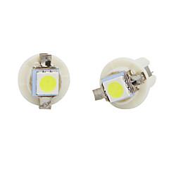 billige Interiørlamper til bil-10pcs T5 LED pærer hvite