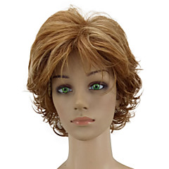cheap Wigs & Hair Pieces-Synthetic Wig Women's Curly Brown Layered Haircut Synthetic Hair Highlighted / Balayage Hair Brown Wig Short Capless Golden Brown hairjoy