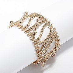 בגדי ריקוד נשים שרשרת וצמידים ריינסטון אופנתי אבן נוצצת סגסוגת תכשיטים עבור Party יומי
