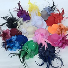 Tule Veer Fascinators Bloemen Hoeden Helm