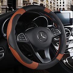 billige Rattovertrekk til bilen-Rattovertrekk til bilen Lær 38 cm Beige / Svart / Brun / Svart / Rød Til Chevrolet Alle år