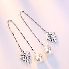 Damskie Kolczyki na sztyft Kolczyki wiszące Modny minimalistyczny styl Miedź Posrebrzany Line Shape Biżuteria Na Impreza