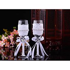 vidro torrando flautas caixa de presente brinde flautas recepção de casamento