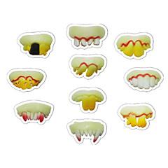 tanie Zabawki nowoczesne i żartobliwe-Buck Teeth Jokes Śmieszny gadżet Świecące zabawki Zabawki na Halloween Wampirze kły Zabawki Nowość Ząb Święto Oświetlenie Świecące w