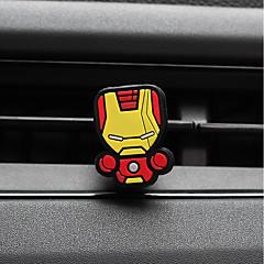 billiga Luftrenare till bilen-bil parfym ornament superman järnman kreativ tecknad silikon bil luftrenare
