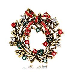 Χαμηλού Κόστους Φλοράλ κοσμήματα-Καρφίτσες - Επάργυρο, Επιχρυσωμένο Λουλούδι Μοντέρνα Καρφίτσα Χρυσό / Ασημί Για Χριστούγεννα / Πάρτι
