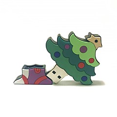 billige -8gb christmas usb flash drive tegneserie kreativt juletre julegave usb 2.0